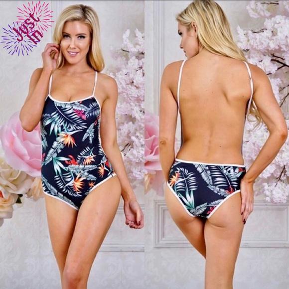 2815b006c1789 Benson Boutique Swim   Flora Low Back Onepiece Suit   Poshmark
